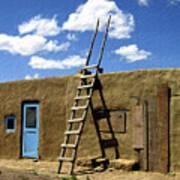 At Home Taos Pueblo Print by Kurt Van Wagner