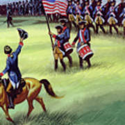 At Saratoga The Colonists Won Victory Art Print