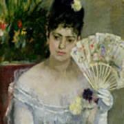 At The Ball Print by Berthe Morisot