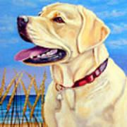 At The Beach - Labrador Retriever Art Print