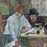 At The Cafe La Mie About 1891 Art Print