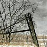 At The End...fence Post Art Print