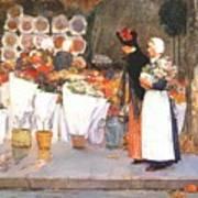 at the florist 1889 Childe Frederick Hassam Art Print
