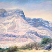 At The Foot Of Mountains Art Print