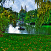 At The Lake In Central Park Art Print