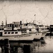 At The Marina - Jersey Shore Art Print