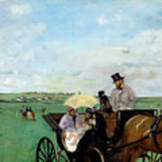 At The Races In The Countryside,  Art Print