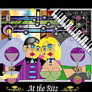 At The Ritz Bar Art Print