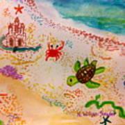 At The Seashore Art Print