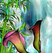 At The Waterfall Art Print
