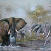 At The Waterhole Art Print