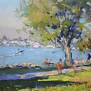 At Tonawanda Park By The River Art Print