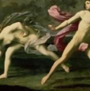 Atalanta And Hippomenes Print by Guido Reni