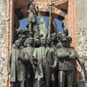 Ataturk Statue Art Print