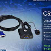 Aten's 2 Port Usb Cable Kvm Switch - Cs22u Art Print