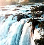 Waterfall Scene For Mia Parker - Sutcliffe L A S Art Print