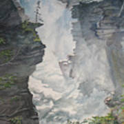 Athabasca Falls Alberta Art Print
