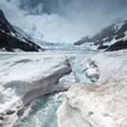 Athabasca Glacier, Alberta, Canada Art Print
