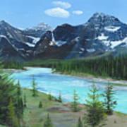 Athabasca River Art Print