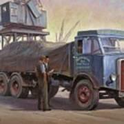 Atkinson At The Docks Art Print