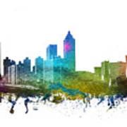 Atlanta Cityscape 01 Art Print