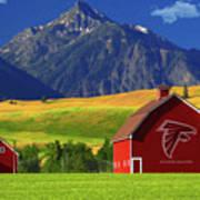 Atlanta Falcons Barn Art Print
