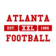 Atlanta Falcons Retro Shirt 2 Art Print