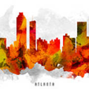 Atlanta Georgia Cityscape 15 Art Print