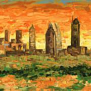Atlanta Georgia Skyline 10 Art Print