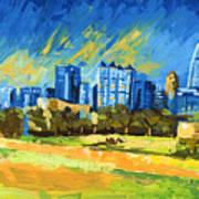 Atlanta Georgia Skyline 15 Art Print