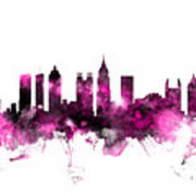 Atlanta Georgia Skyline Pink Art Print
