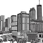 Atlanta Georgia Vector Art Print