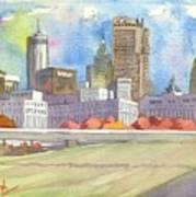 Atlanta Skyline Color Art Print