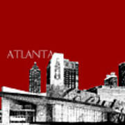 Atlanta World Of Coke Museum - Dark Red Art Print