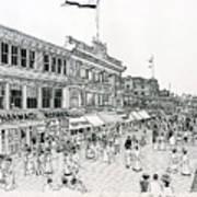 Atlantic City Boardwalk 1900 Art Print