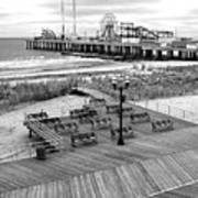 Atlantic City Boardwalk Art Print