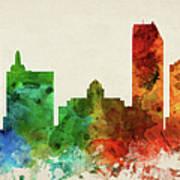 Atlantic City Skyline Panorama Usnjac-pa03 Art Print