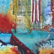 Atlantis Crashing Into The Sea Art Print