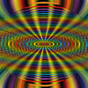 Atomic Rainbow Art Print