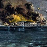Attack On Fort Sumter Art Print
