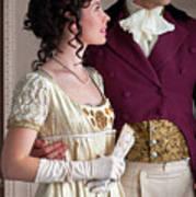 Attractive Regency Couple Art Print