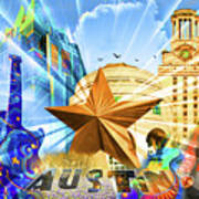 Atx Montage Print by Andrew Nourse