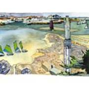 Au Bord De La Mer, La Rochelle, Charente-maritimes Art Print