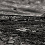 Auburn Lewiston Railway Bridge Art Print