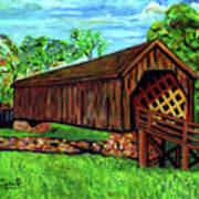 Auchumpkee Creek Covered Bridge Art Print