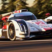 Audi R18 E-tron, Le Mans - 19 Art Print