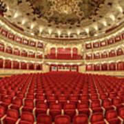 Auditorium Of The Great Theatre - Opera Art Print