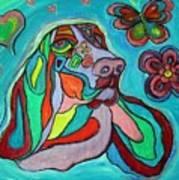 Audrey Basset Hound Art Print