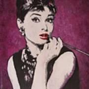 Audrey Hepburn - Breakfast Art Print
