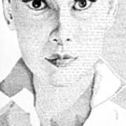 Audrey Hepburn In Her Own Words Art Print
